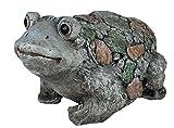 colourliving Frosch Figur Stein Optik groß sitzend Gartenfigur Teich Deko Figur Froschfigur