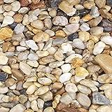 25 Kg Zierkies Gartenkies Teichkies Quarzkies Buntkies Kieselsteine Waschkies Bunt 16-32 mm
