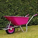 TRUTZHOLM Schubkarre pink/violett PP 100 Liter | 250 kg Bau Karre Gartenschubkarre Bauschubkarre...