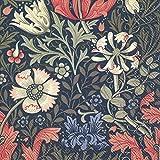 Compton (V & A) Dark Blau Floral Luncheon Papier Tisch Servietten 20in einer Packung 33cm...
