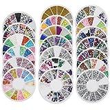 Bluelans 20x 3D Glitters Blume Nagelsticker Schleife Strass Nagel Art Sticker Dekoration