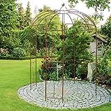 BURI Rosenpavillon Metall 270 Hhe Rankhilfe Gartenpavillon Rankgitter Rosenbogen