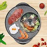 MAOMAOQUEENss Elektrische Tischgrills,BBQ Grill Mini Steak Bratpfanne Backplatten,2 in 1...