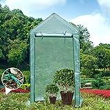 Yorbay Foliengewächshaus Gewächshaus für Tomaten, mit Gitternetzfolie für Garten zur Aufzucht,...
