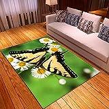 KFEKDT Wohnzimmer Schlafzimmer 3D Schmetterlingsdruck Teppich Korridor Bodenmatte Badezimmer Küche...