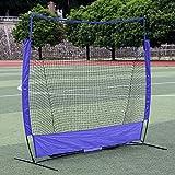 PQXOER Baseball-bungsnetze Tragbares 3-Stab-bungsnetz for den Auenbereich, 7 x 7 Fu, Baseball,...