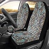 Enoqunt Autositzschutz für Erwachsene Mosaiksteine Glasmuster Textur Autositzbezüge...