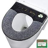 WC-Sitzbezug Verdickte Toiletten Sitzbezug Sitz Abdeckung für Universal Toilettensitz PU...
