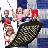 Groe Mehrkindschaukel STANDARD silber/rot/blau fr 4 Kinder, 136 x 66 cm (SPR.L.109) - das Original...