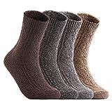 AATMart Damen Socken HR1613 aus weicher Wollmischung, Einheitsgröße - mehrfarbig - Einheitsgröße