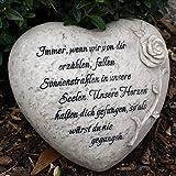 Immer wenn wir von dir erzhlen, fallen Sonnenstrahlen in unsere Seelen. Grabschmuck Trauerherz mit...