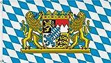 normani XXL Flagge Fahne, genht in 150 x 250 oder 300 x 500 cm Farbe Bayern Gre 150x250
