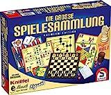 Schmidt Spiele 49125 Die Große Spielesammlung, alle Spielfiguren aus Holz, bunt