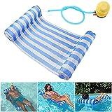 GEYUEYA Home Wasser Hängematte Lounge Chair Luftmatratze Schwimmende aufblasbare Kopf und...