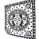 ypypiaol Wandbehang Tapisserie Magical Moon Sun Tagesdecke Cover Home Wohnzimmer Dekor Ornament 7...