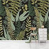 ponana 3D Vintage Grünpflanzen Blätter Wandbilder Tapeten Home Wandkunst Dekor Tapetenrollen 3D...