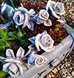 2 x Rosenbouquet Rosenranke Rose Rosen Ranke Rosenblüten mit Blätter auch Grabdekoration...