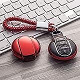 Key Fob Cover, Premium-weiche TPU 360-Grad-Vollschutz-Schlüssel Shell Key-Fall-Abdeckung Kompatibel...