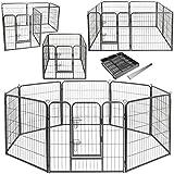 Lovpet Welpenlaufstall Freilaufgehege Welpenauslauf Hundelaufstall Tierlaufstall Hunde, mit Tür und...