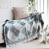 N/A MYBH Home Decoration Nordic Einfache Freizeit Grün Plaid Sofa Decke Klimaanlage Decke Grün 180...