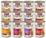 Animonda Carny Adult Katzenfutter Mix1, Nassfutter für erwachsene Katzen, 12er Pack (12 x 400 g)