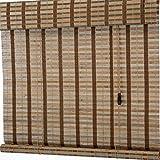 ZAQ Bambusrollo Rollos Bambusrollos im japanischen Stil - Tür/Pavillon/Balkon/Außenbereich 90%...