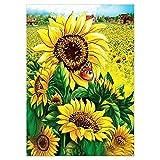 lxlwxh541 Diamond Painting Set Diamantmalerei Sonnenblumenblume Feldflasche DIY Punkt...