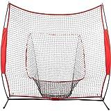 PQXOER Baseball-bungsnetze 7 Fu Baseball-bungsnetz Baseball-Schlagnetz Rebound-Netz...