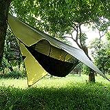 XISHUAI Camping Hängematte Outdoor mit Moskitonetz und Wasserdicht Plane Ultra-Licht Atmungsaktiv,...