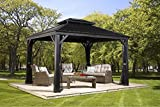 Sojag Stahl-Pavillon 3x4 m Messina Garten-Pavillon Terasse-n-berdachung Aluminium-Pavillon Gazebo...
