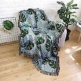 N/A MYBH Home Decoration Tropical Leaf Tapisserie Multifunktionale Tischdecke Teppich Sofa Decke...