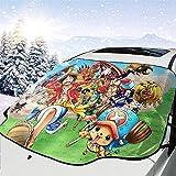 MaMartha Car Windshield Snow Cover Anime One Piece Die Strohhut Piraten Auto Windschutzscheibe...