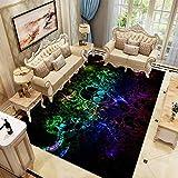 KFEKDT Party Teppiche Couchtisch Fußmatten Teppiche 3D Kreative Schädel Muster Teppiche für...