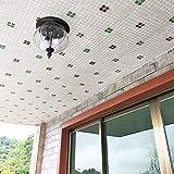 Wandleuchte Europäische eingebettete Deckenleuchte Aluminium wasserdicht Pavillon Gartenlampe...