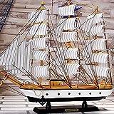 ZXX5211 Segelboot Modell Stil dekorative Holzverzierung, weiche Verzierung Holzboot Modell...