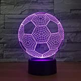 3D Night Light,Fußball Roboter Kreative 3D Kleine Nachtlampe Dekorative Kreative Led Nacht Lighg...
