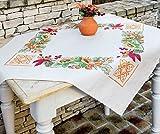 Kamaca Stickpackung Natur Kreuzstich vorgezeichnet aus 100% Baumwolle zum Selbersticken (80x80 cm...