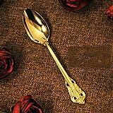 Hong YU Goldgeprägter Messer- und Gabellöffel aus 304-Edelstahl, vergoldet Western-Geschirrset,...