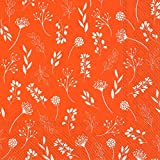 IHR Tilda orange weiß Zweig Floral Papier Tischservietten 33 cm quadratisch 3-lagig 20 Stück in...
