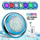 TOPLANET Poolbeleuchtung LED 48W RGB Unterwasser Beleuchtung LED Wasserdicht IP68 Pool Led...