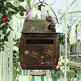 DTZ-SDRAM Retro Briefkasten Europäisch Klassisch Villa Box Garten Antik Wand Vorhängeschloss...