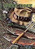 jiaxingdalin Hausgarten Fliegenfischen Willkommen Dekorative Sommersportarten River Lake House Flag