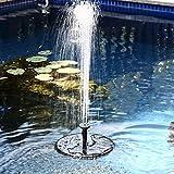 Samoleus Solar Brunnen Pumpe, 7V 1.4W 50CM Garten Springbrunnen Solar Wasserpumpe für Teich Garten...