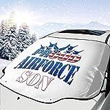 MaMartha Car Windshield Snow Cover Stolze Air Force Son Windschutzscheibe Schneedecke,Auto...