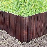 LIZI Zaun Massivholz-Gartenzaun Carbonized Rasenkante Innen/Außen Pflanze/Blume Schutz (Size :...