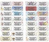 Mix gemischt Adress-Etiketten - Adress-Aufkleber Sticker mit Ihrem Wunschtext 53x 21mm, fr 1 bis 5...