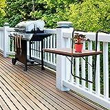 Greensen Balkonhängetisch Holz Balkontisch Gartentisch zum Aufhängen Klapptisch Kleine Balkon...