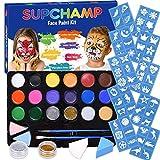 Supchamp Kinderschminke Set Face Paint,Schminkset für Kinder, 16-farbige, ungiftige...