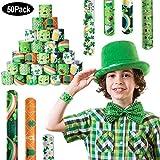 SPECOOL St. Patrick's Day Decorations, 50pcs Schnapparmbänder, Party-Mitgebsel für Kinder, für...
