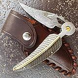 DELLINGER FREYDIS Clip & Damast Taschenmesser & Klappmesser & Damaststahl Messer & Outdoor...